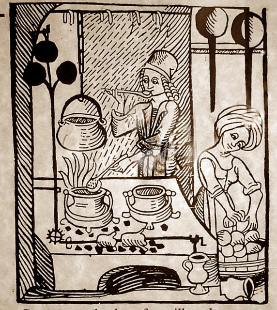 Medieval Foods and Feasts Illustration